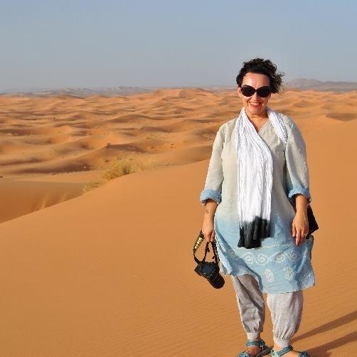 Federica Giuliani nel Sahara marocchino